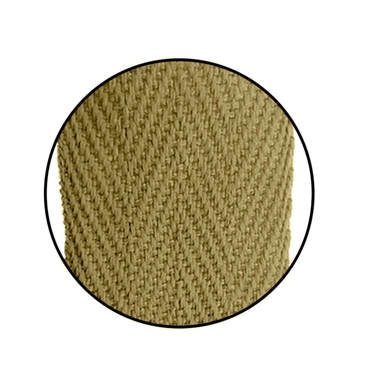Alça Gorgurão (Escama) 25mm x 80 cm - Com Ponteira de Acetato Cristal (100 unidades)