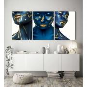 Quadro Canvas Mulher Blue