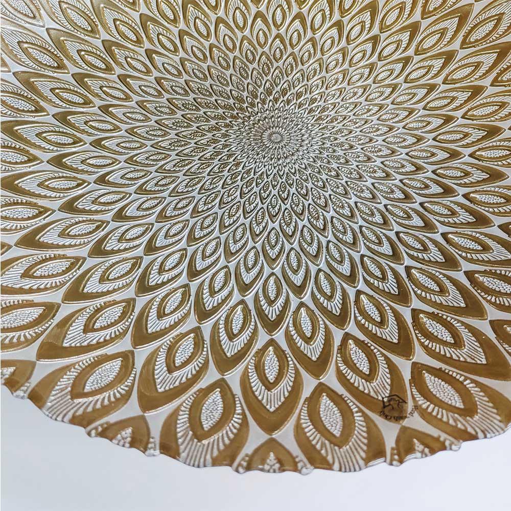 Centro de Mesa Decorativo Peacock Perola