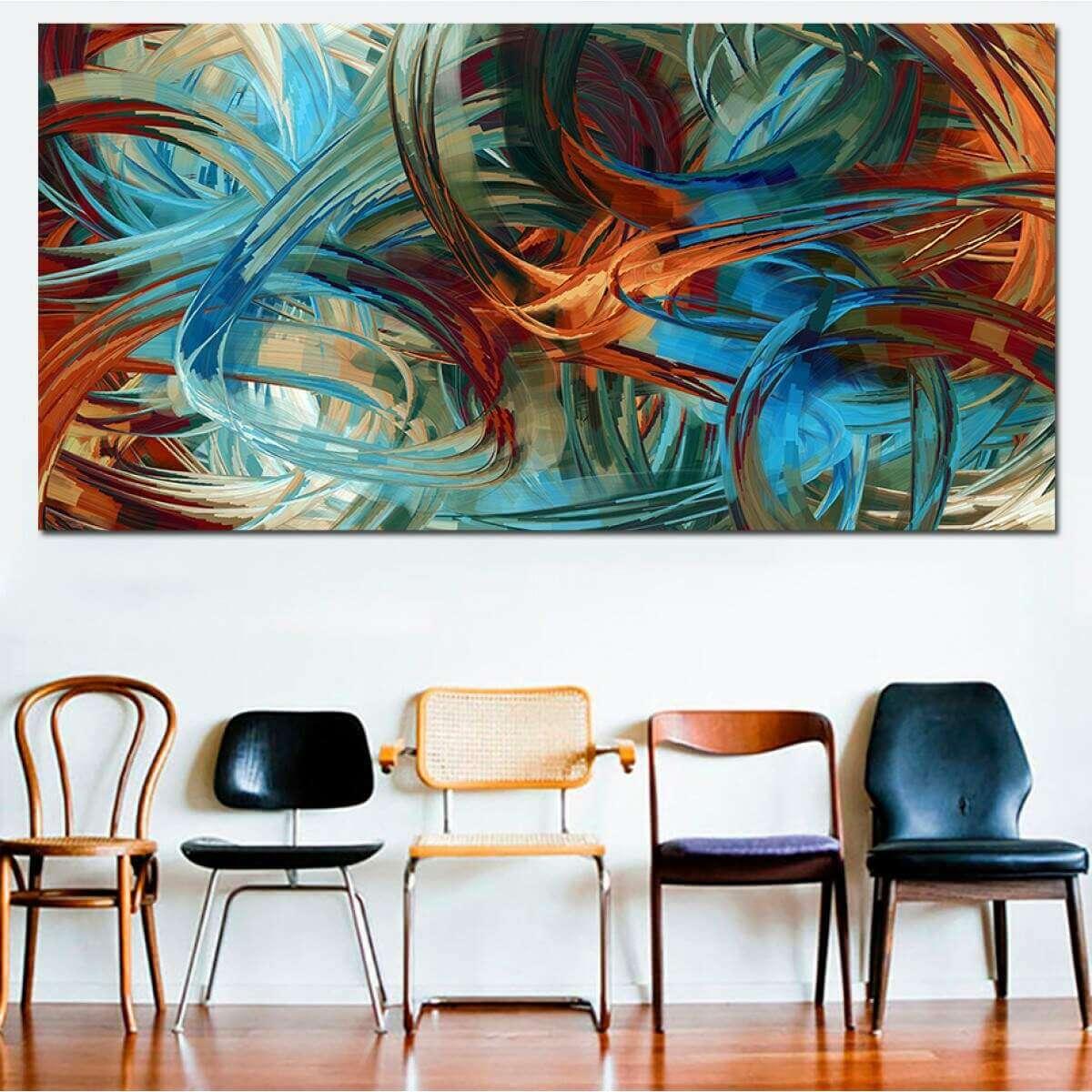 Quadro Canvas Abstrato