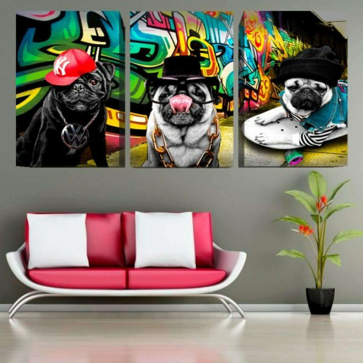 Quadro Canvas Cães