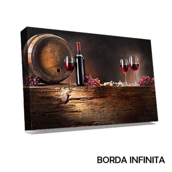 Quadro Canvas Vinho