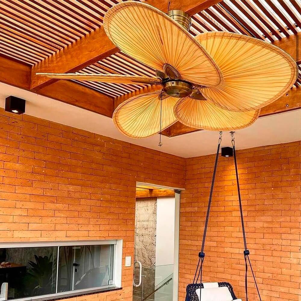 Ventilador de Teto Windpoint Folha de Palmeira