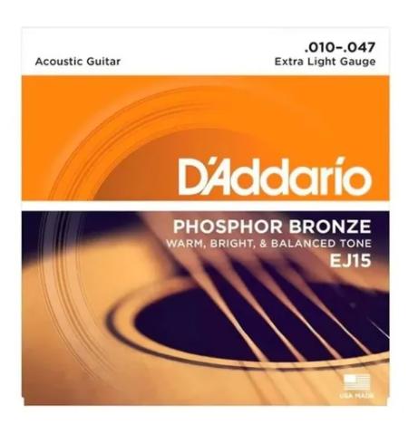 Encordoamento D'addario Phosphor Bronze 0.10