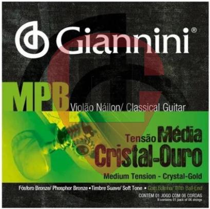Encordoamento Nylon Giannini Cristal Ouro