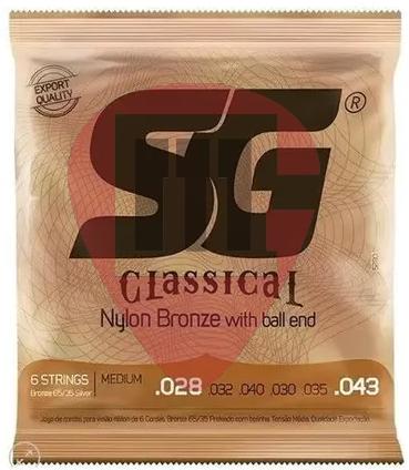 Encordoamento SG Nylon Bronze 65/35 tensão media