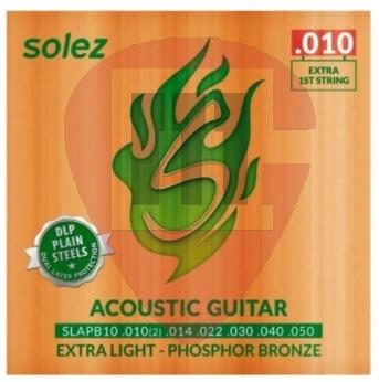 Encordoamento Solez p/ Violão 0.10 Phosphor Bronze