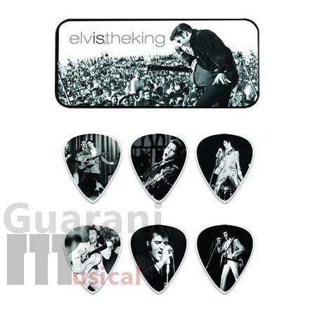 Kit de Palhetas Dunlop - Elvis Presley The King Media com Lata Especial - (6 unidades)