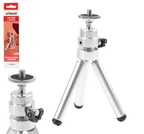 Mini Tripé Ajustável - em Alumínio - Rosca Universal - XTrad FF0038