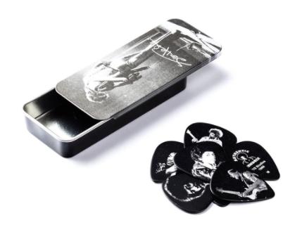 Palheta Jimi Hendrix Retratos Media Pacote Com 12 Dunlop