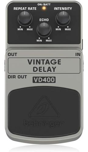 Pedal Guitarra Vintage Delay Behringer Vd400