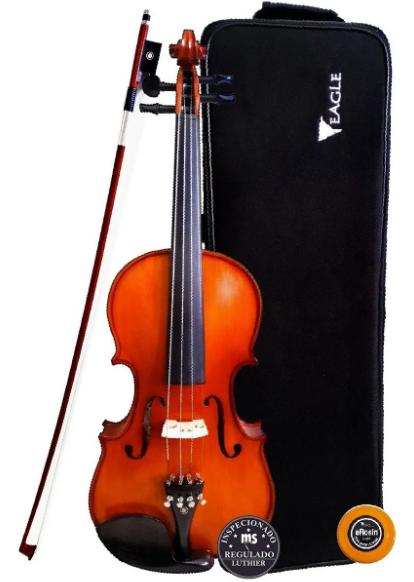 Violino Eagle Envelhecido Ve244 +case+breu+arco+alça