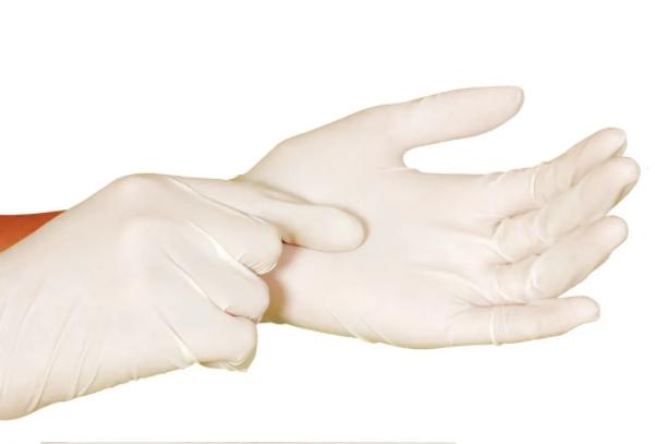 Luva Cirúrgica Estéril Descartável com pó c/1 par