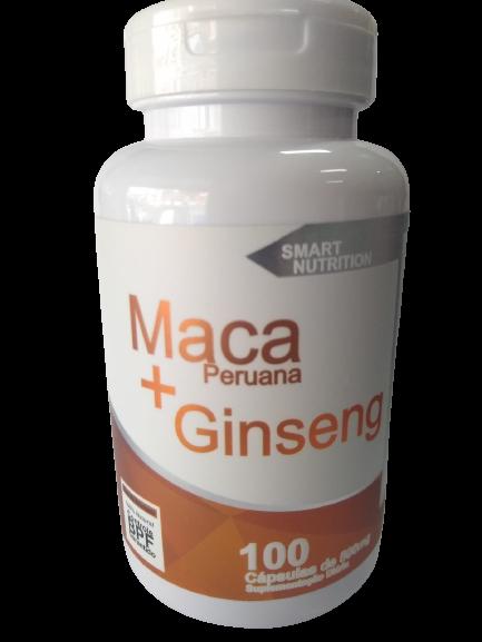 MACA PERUANA + GINSENG 500MG C/100 CAPS