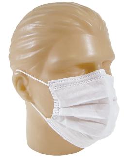 Mascara Cirúrgica Descartável  Tripla C/ Elástico C/50 Unid.