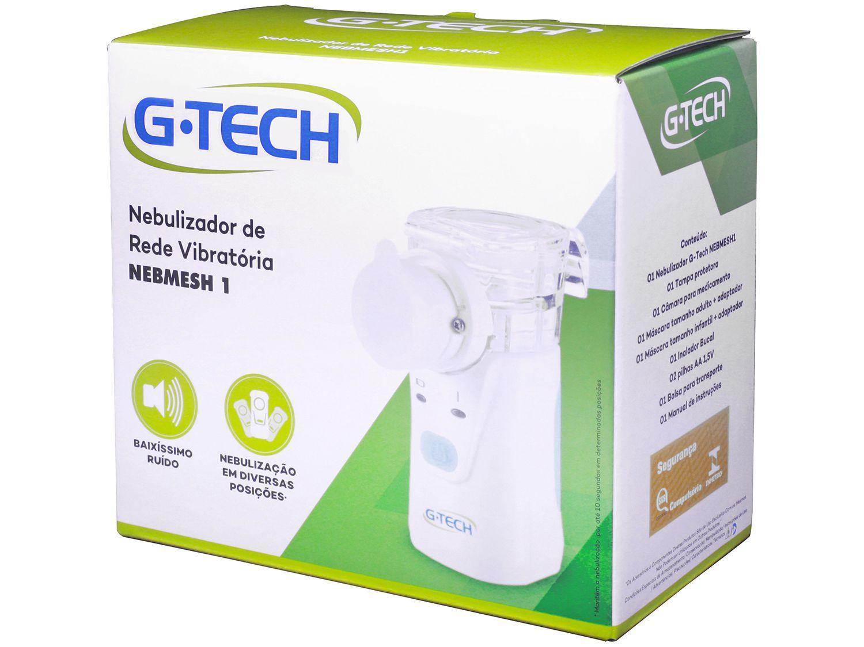 Nebulizador e Inalador, a pilha, sem fio, portátil (NEBMESH1) G-Tech