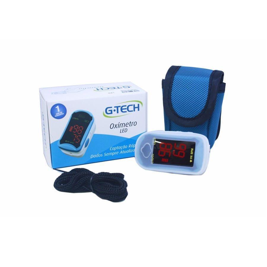 Oxímetro Digital de Pulso de Dedo Portátil LED- G-Tech