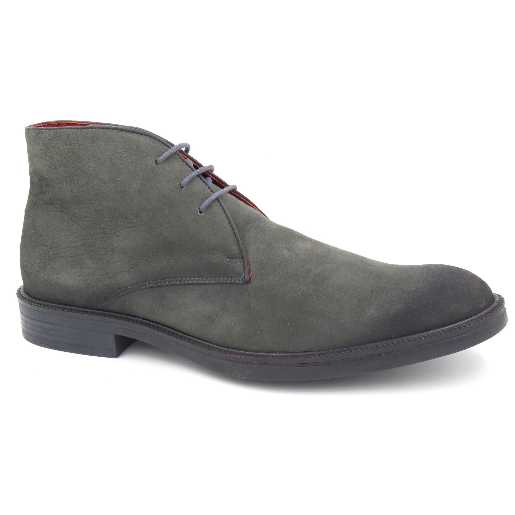 Sapato Abotinado Camurça Sola De Borracha 674020