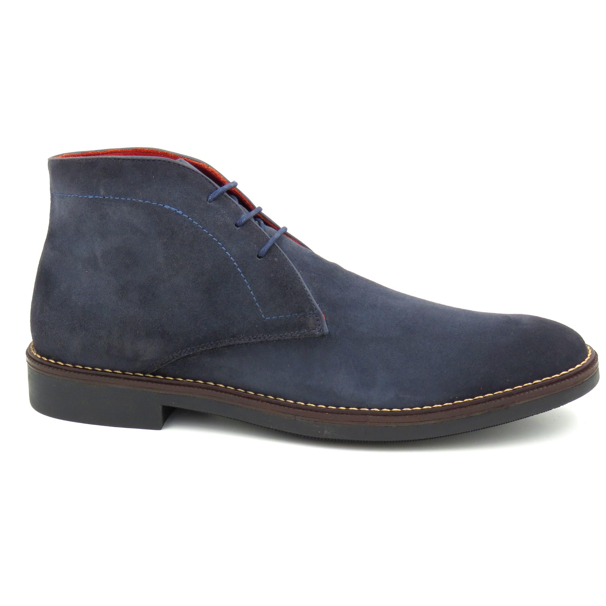 Sapato Abotinado Camurça Sola De Borracha 678005