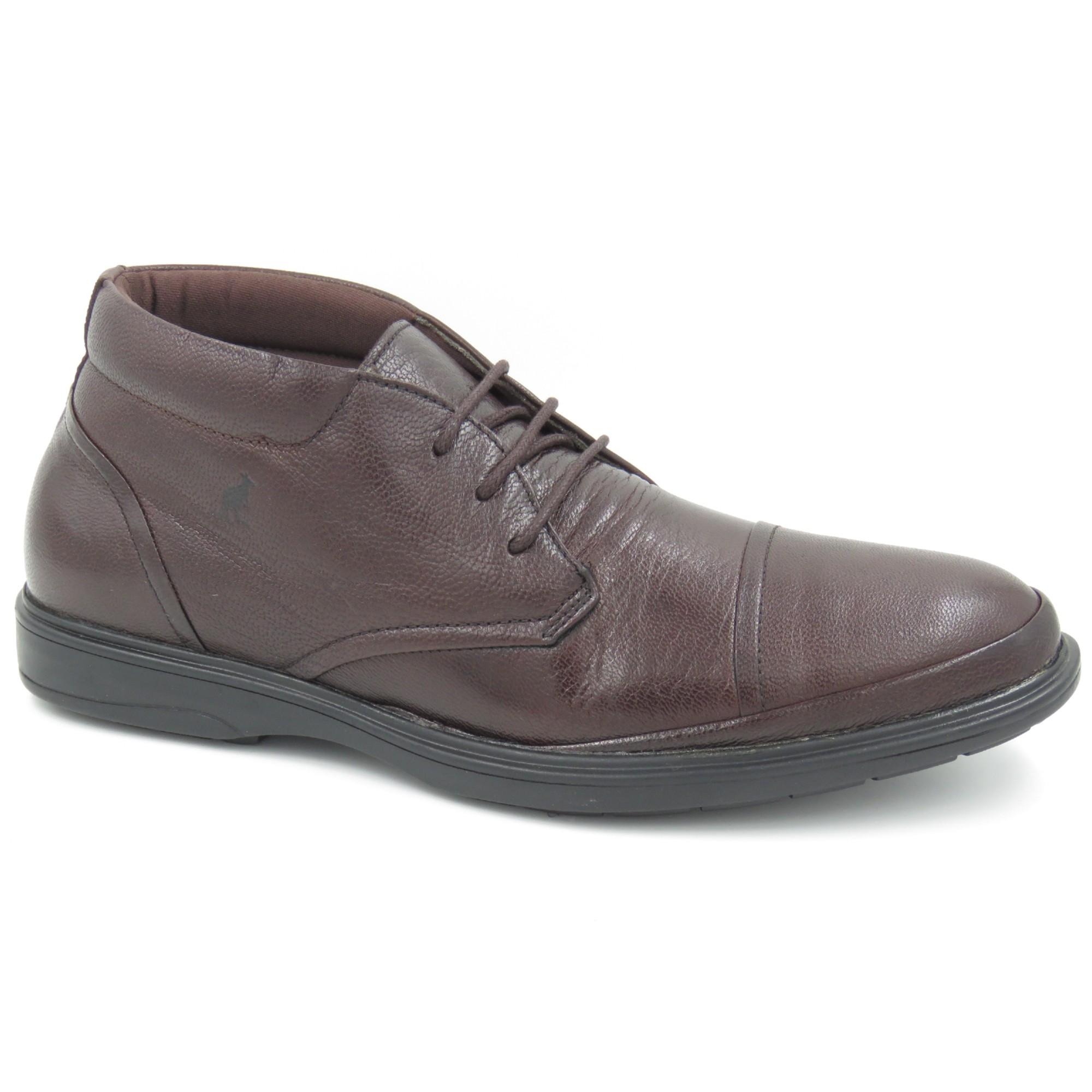 Sapato Abotinado Couro