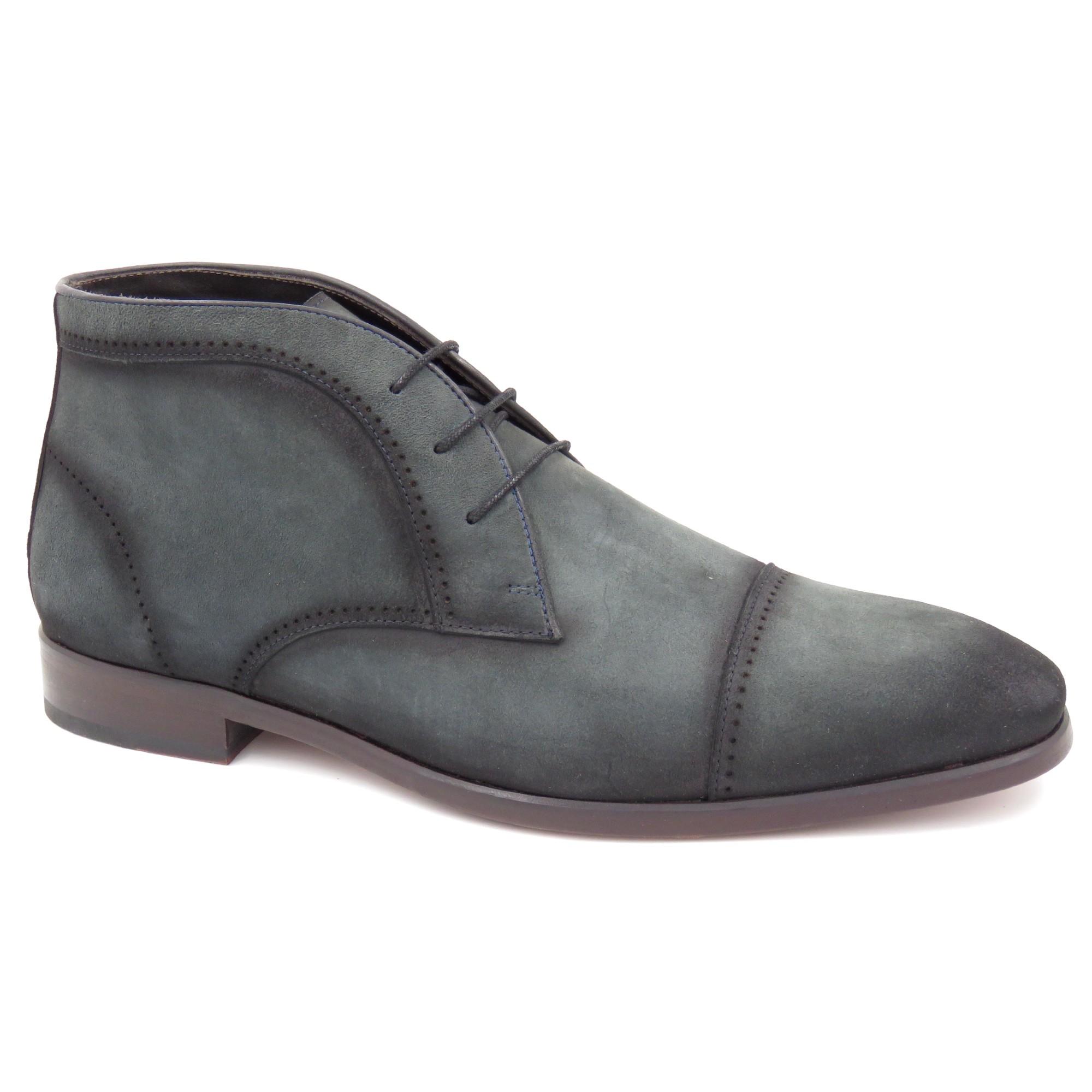 Sapato Abotinado Sola De Couro Gno014-1218
