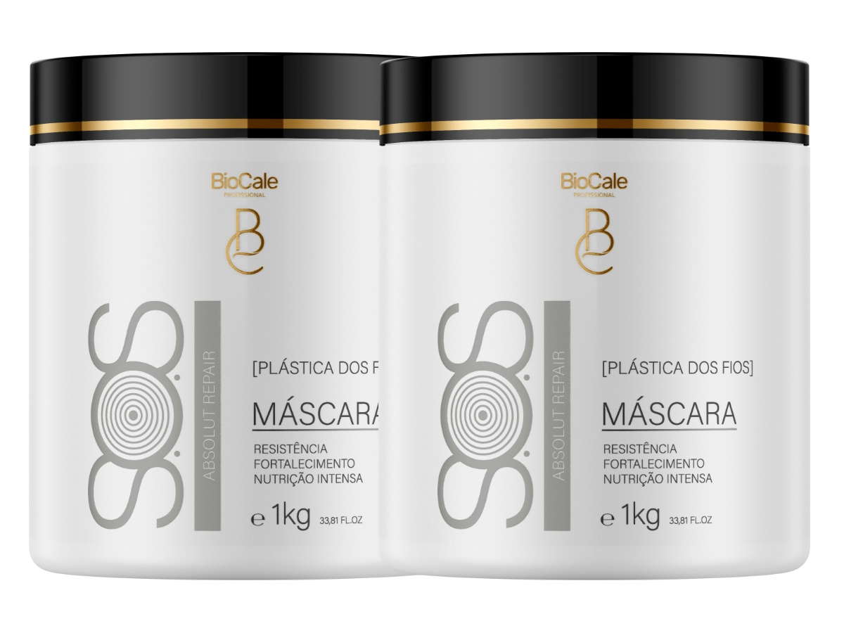 Biocale - Kit 2 Máscara De Hidratação Intensiva Sos 1kg