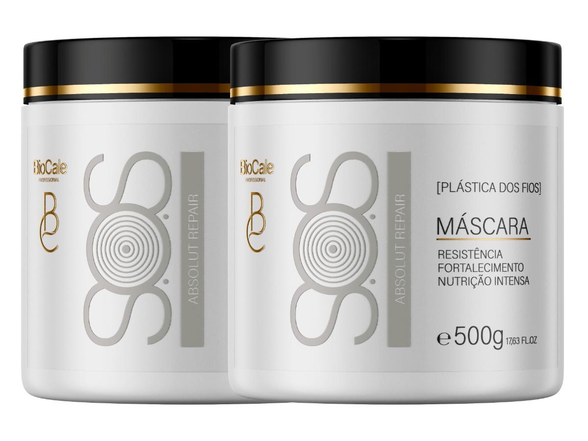Biocale - Kit 2 Máscara De Hidratação Intensiva Sos 500g
