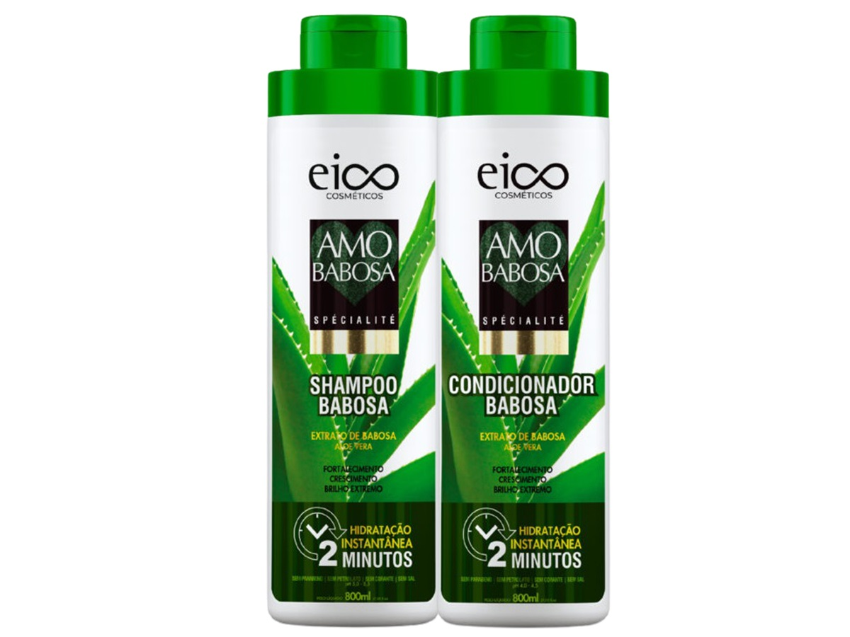 Eico Amo Babosa Kit Shampoo + Condicionador 800ml