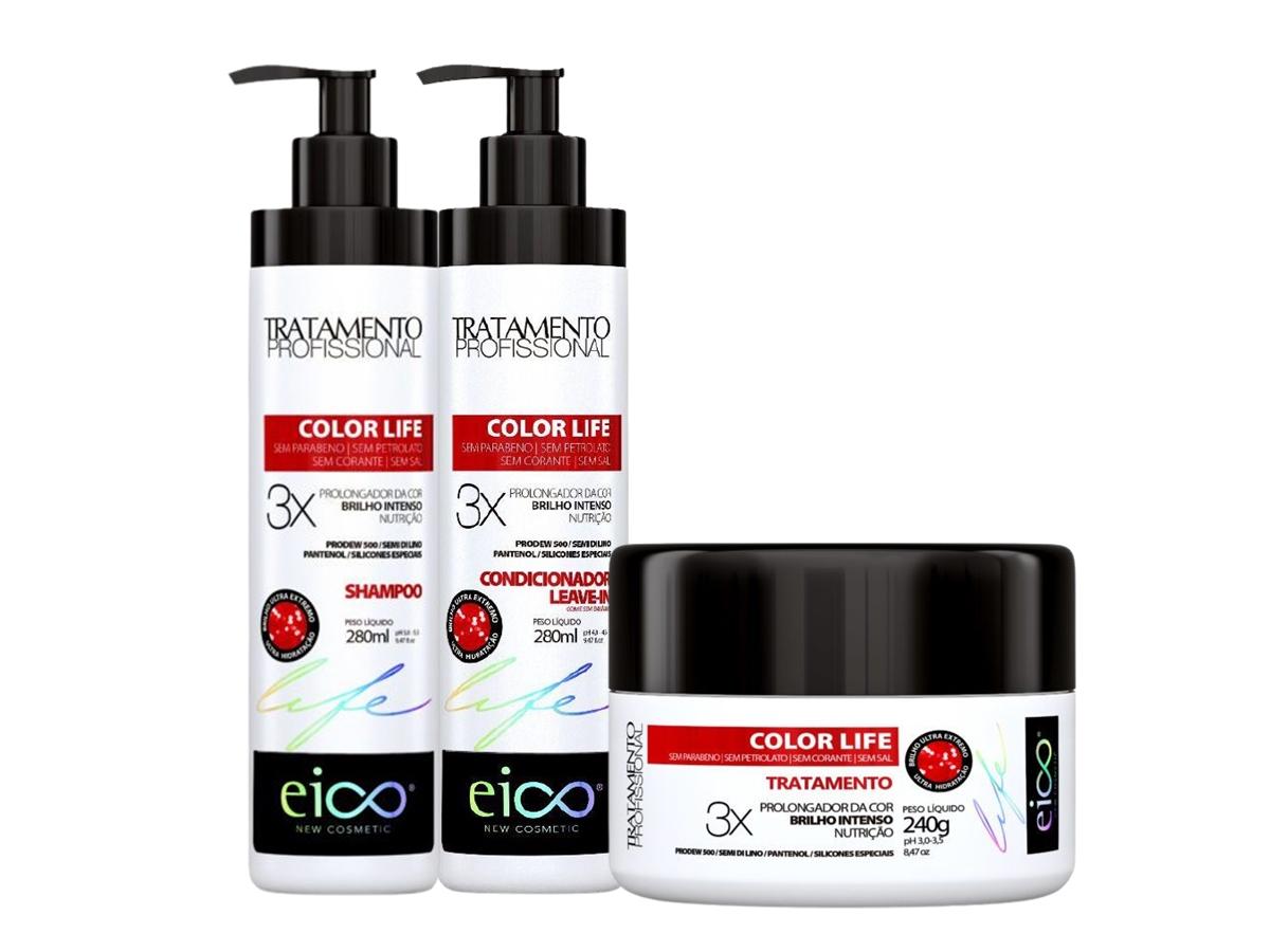 Eico Color Life kit Shampoo + Condicionador + Máscara