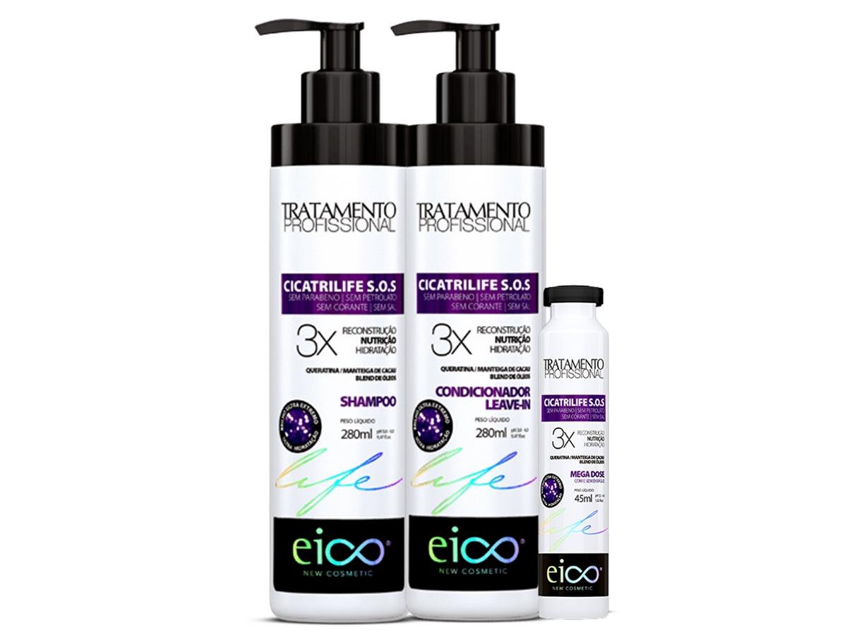 Eico Kit Cicatrilife SOS Shampoo + Condicionador + Ampola