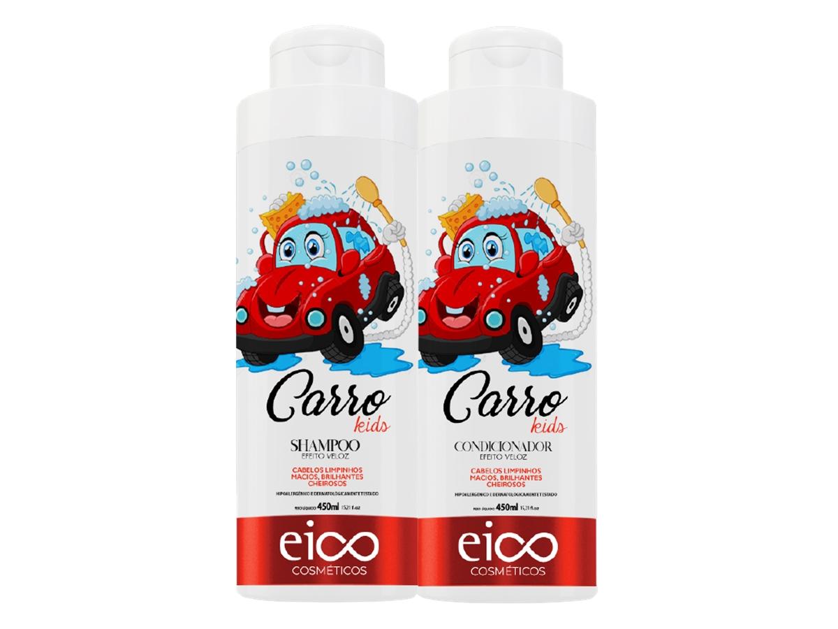 Eico Kit Infantil Carro Shampoo + Condicionador 450ml