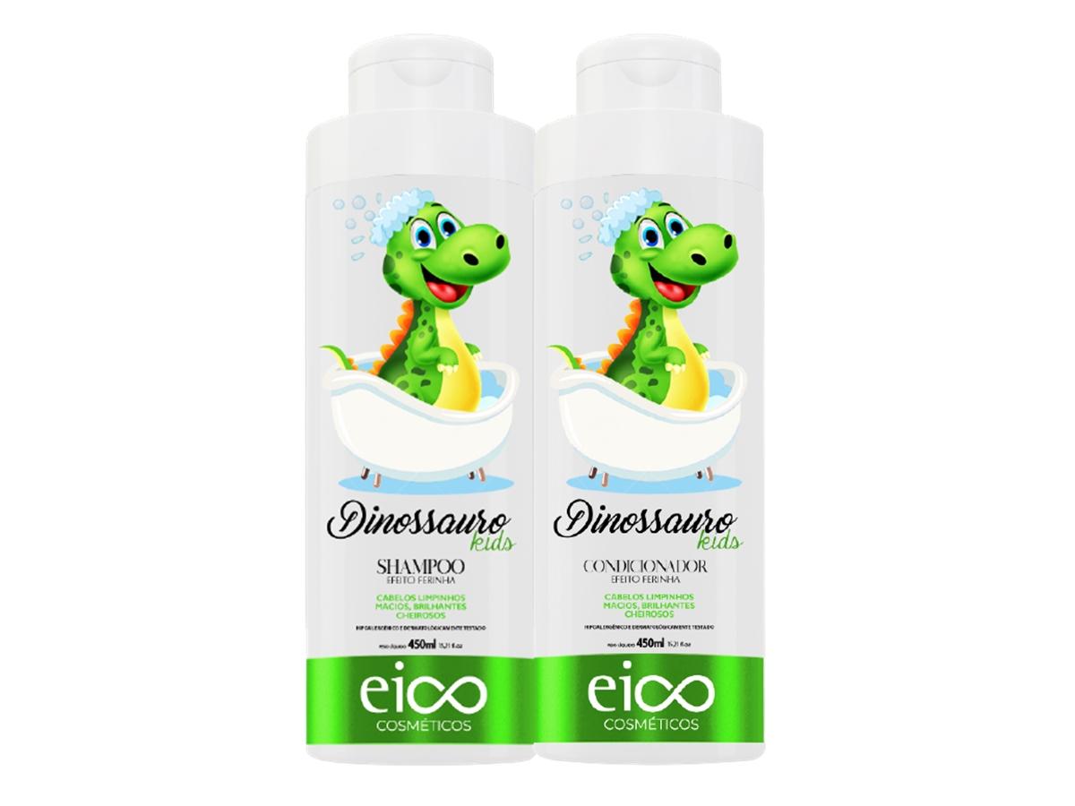 Eico Kit Infantil Dinossauro Shampoo + Condicionador 450ml