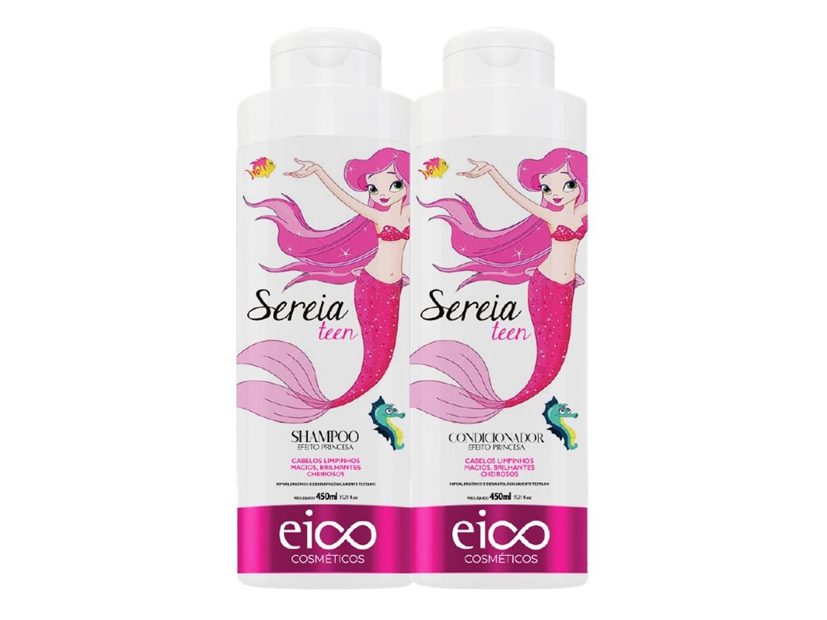 Eico Kit Infantil Sereia Shampoo + Condicionador 450ml