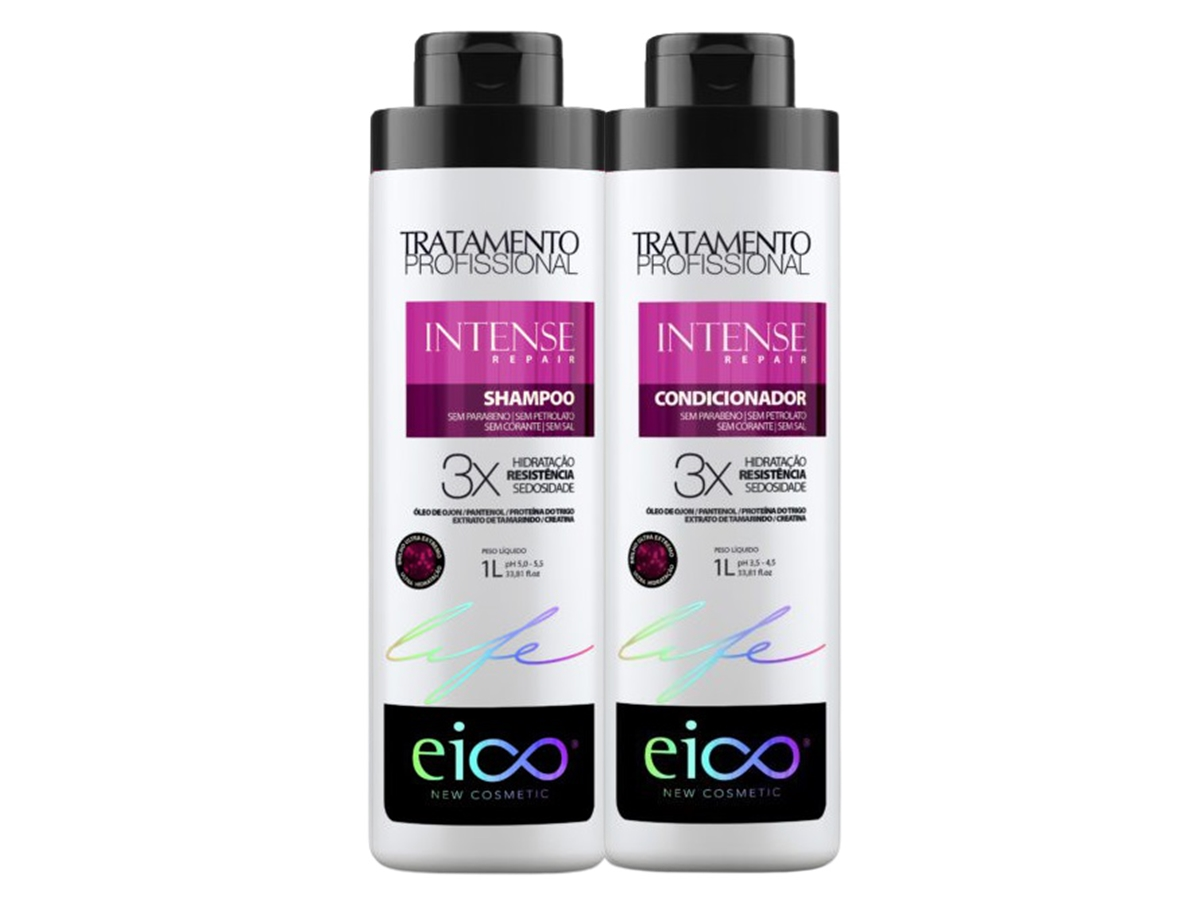 Eico Kit Intense Repair Shampoo + Condicionador 1L