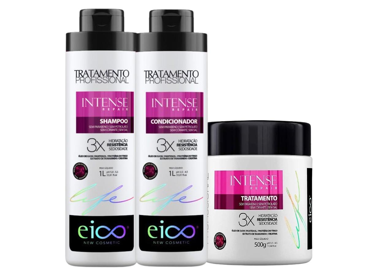 Eico Kit Intense Repair Shampoo + Condicionador 1L + Máscara