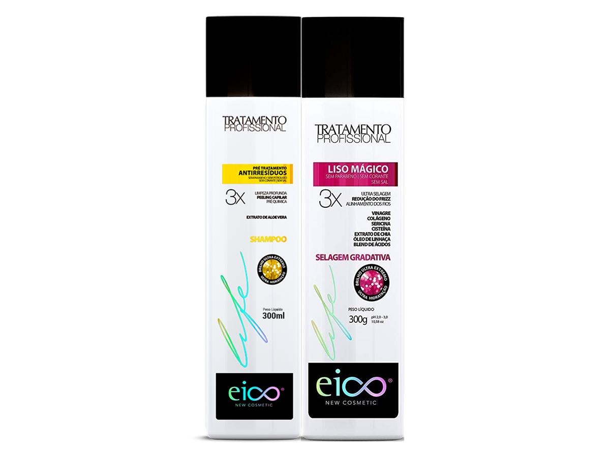 Eico Kit Liso Mágico Selagem 300ml + Antirresiduos