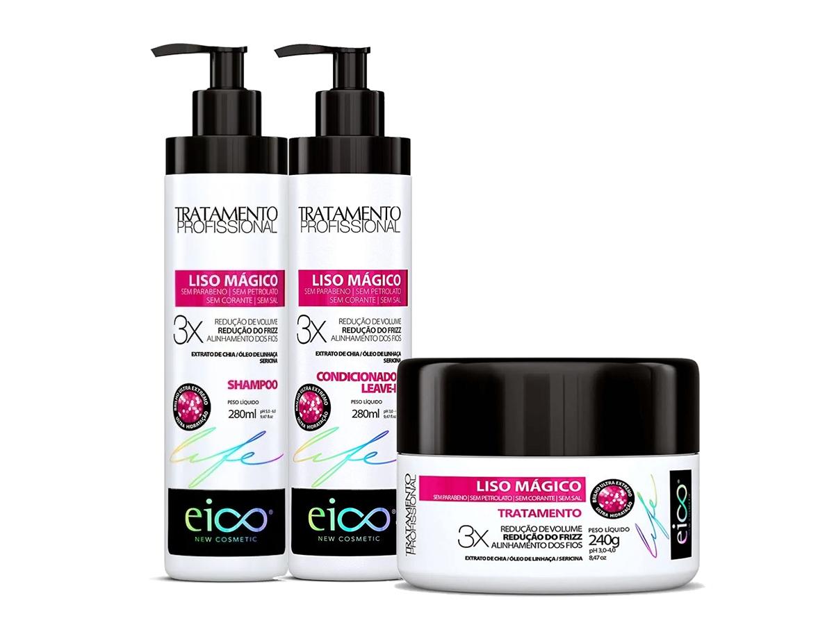 Eico Kit Liso Mágico Shampoo + Condicionador + Máscara