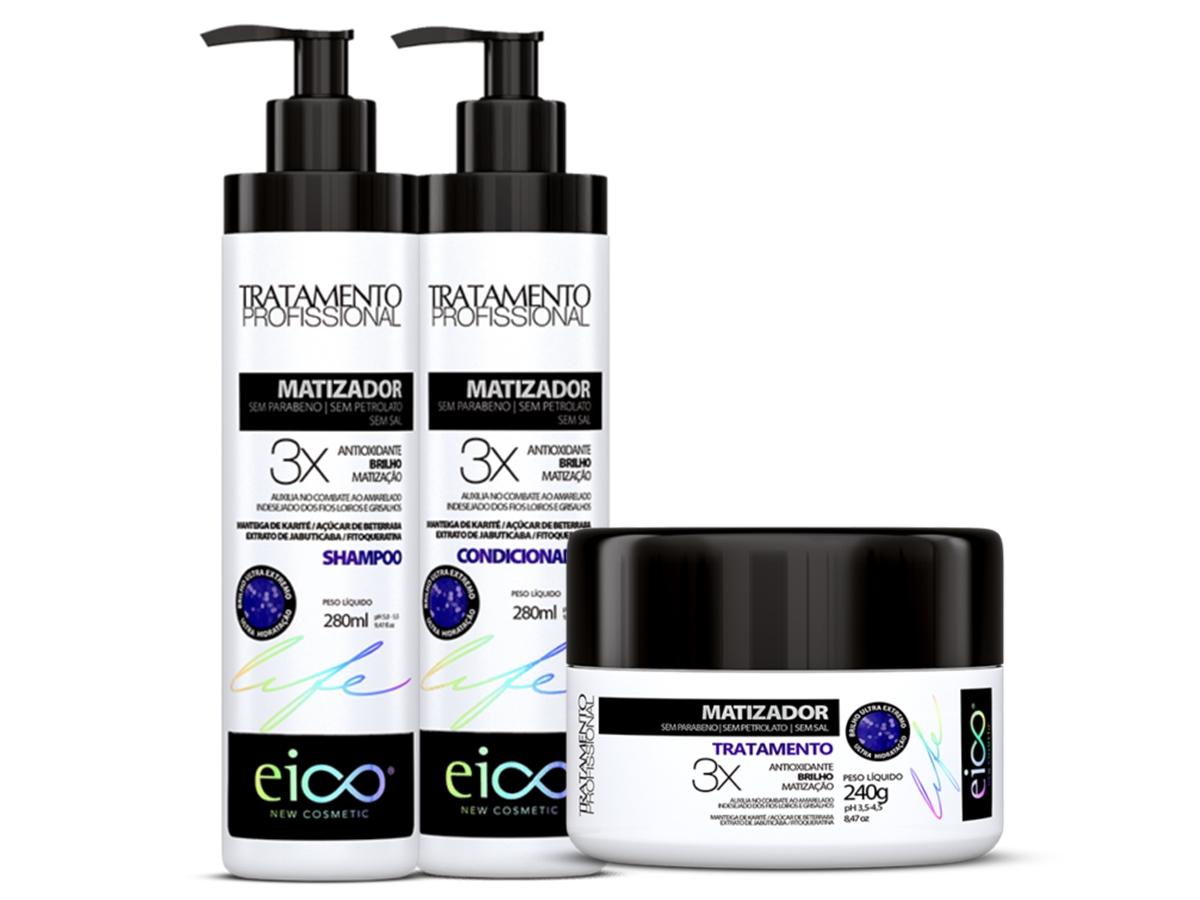 Eico Kit Matizador Shampoo + Condicionador + Máscara