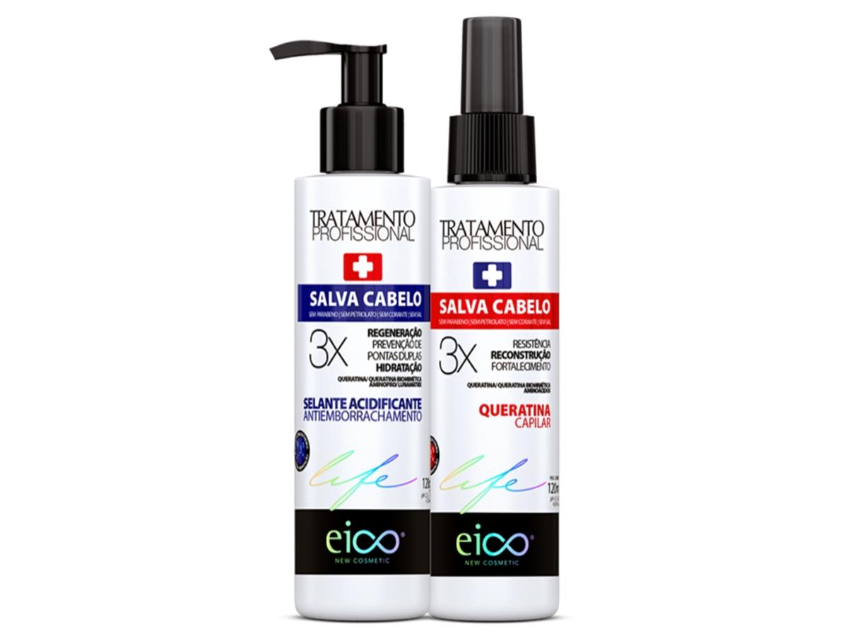 Eico Kit Queratina Liquida + Selante Salva Cabelo 2 x 120ml
