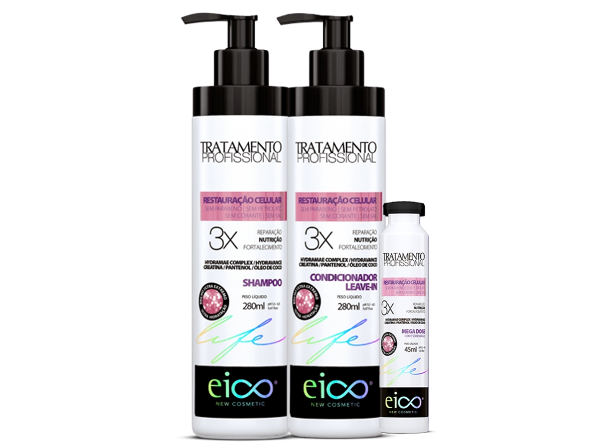Eico kit Restauração Celular Shampoo + Condicionador + Ampol