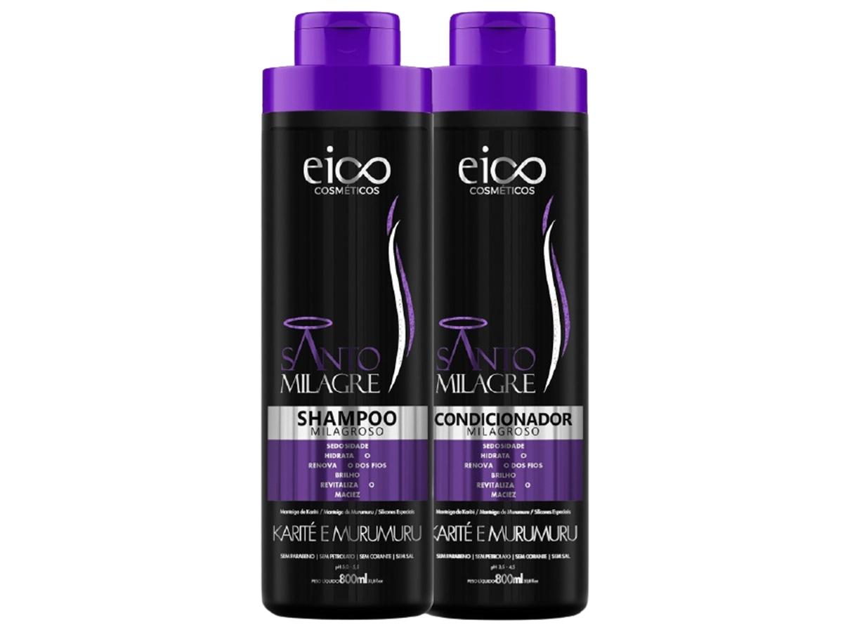 Eico Kit Santo Milagre Shampoo + Condicionador 800ml