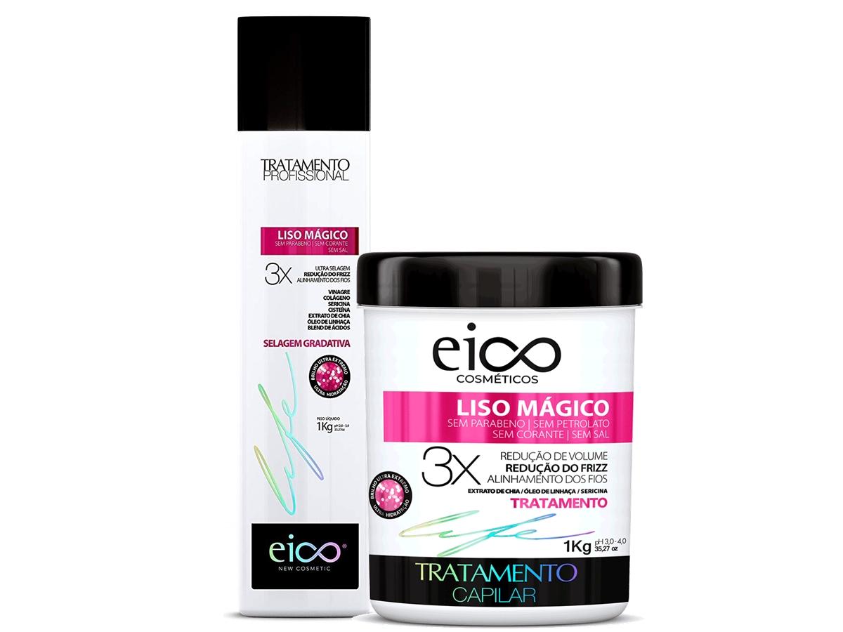 Eico Kit Selagem Gradativa Liso Mágico 1kg + Máscara 1kg