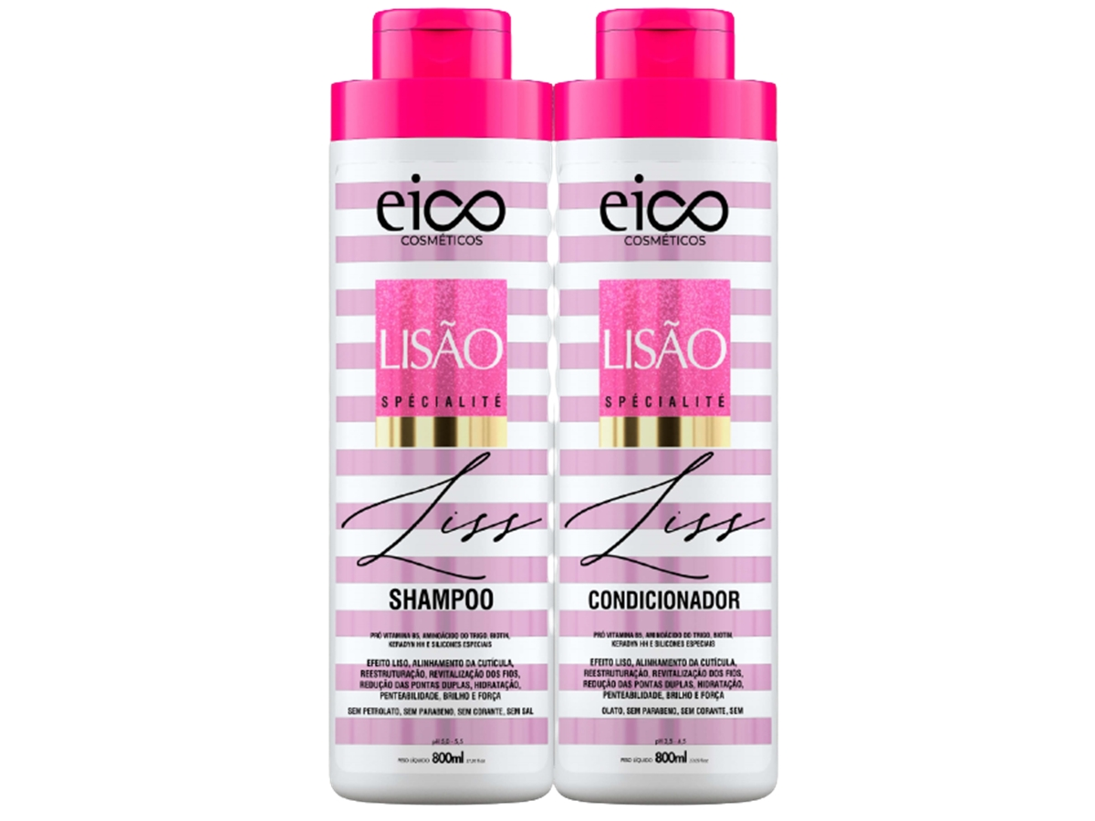 Eico Lisao Kit Shampoo + Condicionador 800ml