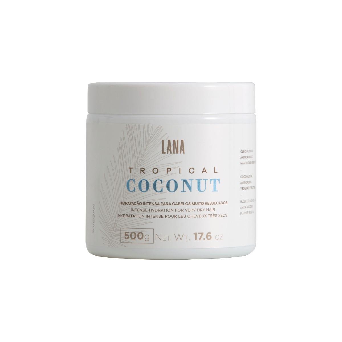 Lana Brasiles - Máscara Tropical Coconut Hidratação Intensa 500g