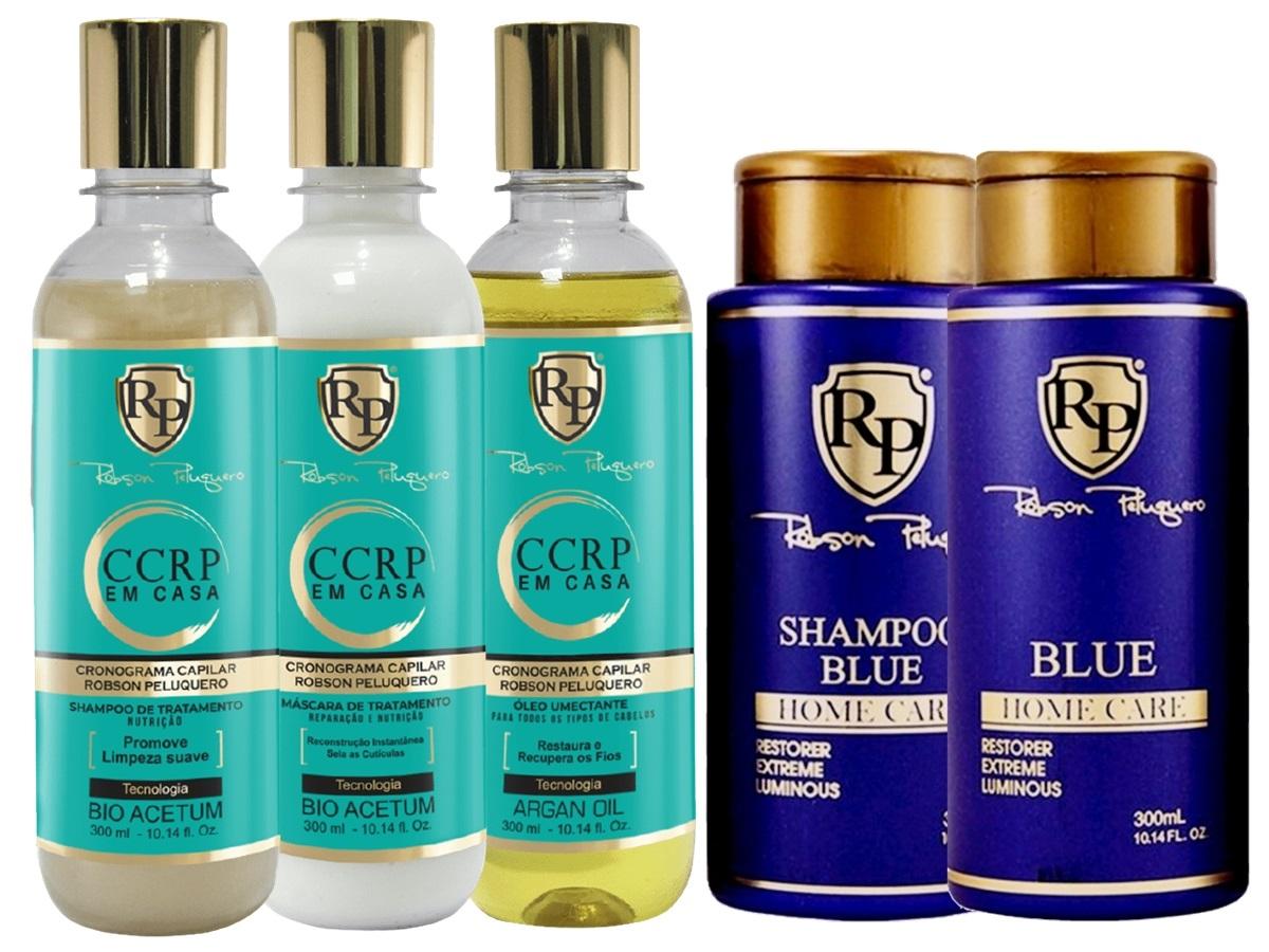 Robson Peluquero Kit CCRP Em Casa + Kit Matizador Blue