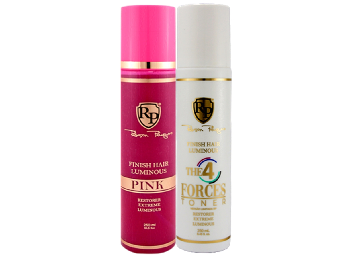 Robson Peluquero - Kit Finish Hair Luminous Pink + 4 Forces