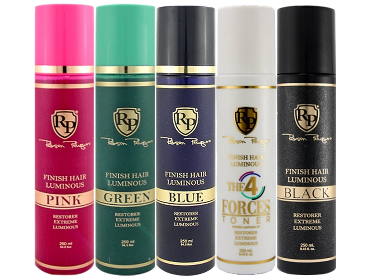 Robson Peluquero - Kit Finish Hair Pink + Green + Blue + Black + 4 Forces