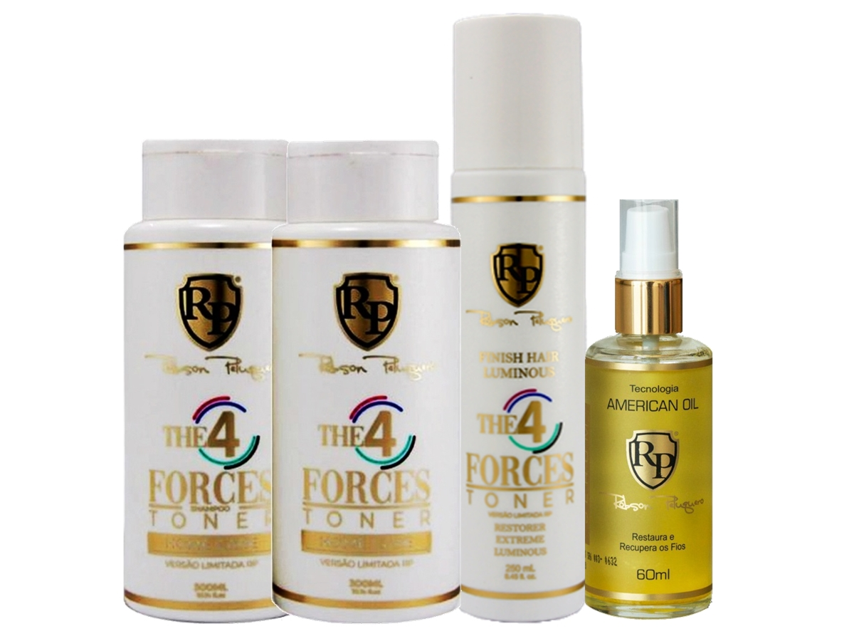 Robson Peluquero - Kit Matizador 4 Forces + Finish + Argan