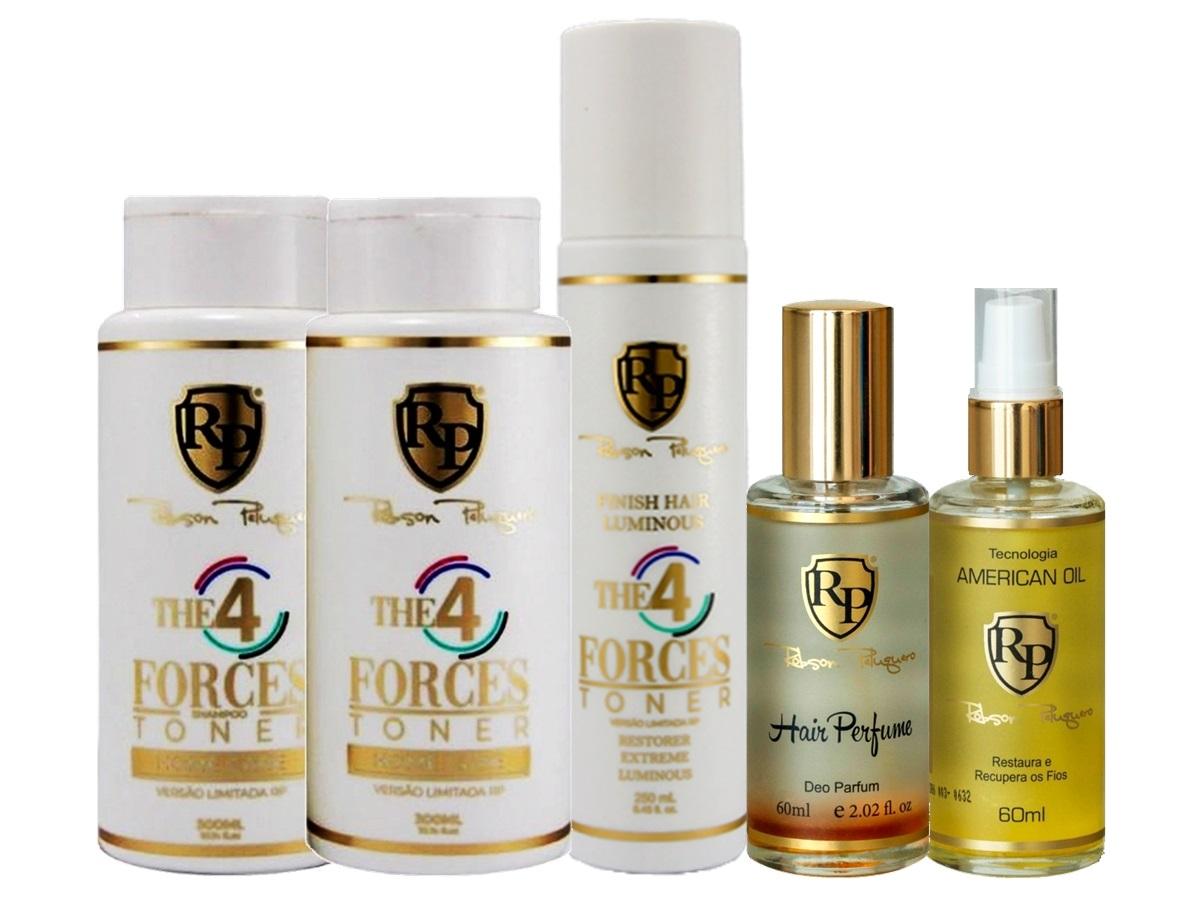 Robson Peluquero - Kit Matizador 4 Forces + Finish + Argan + Perfume