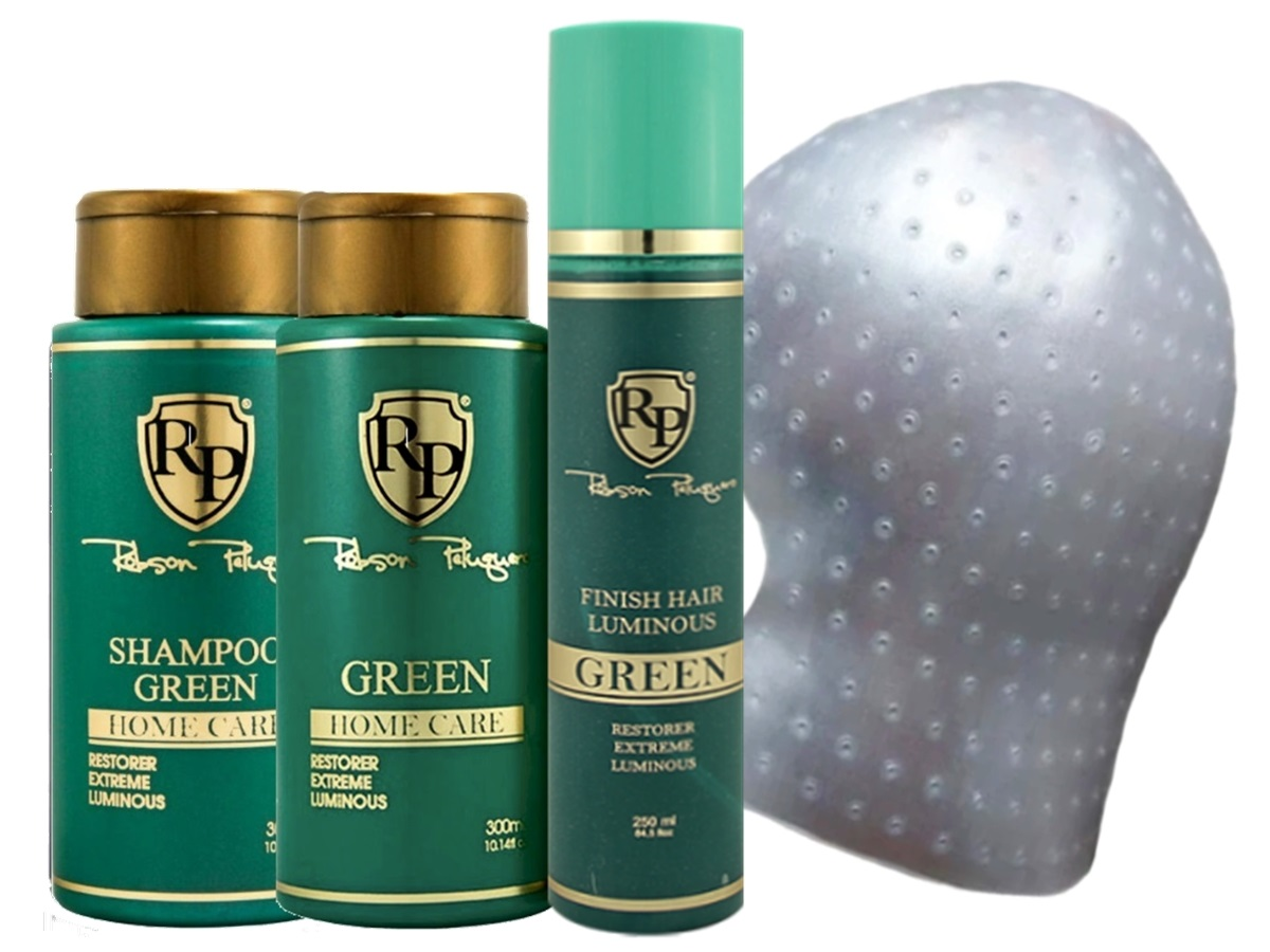 Robson Peluquero - Kit Matizador Green 2x300ml + Finish + Touca